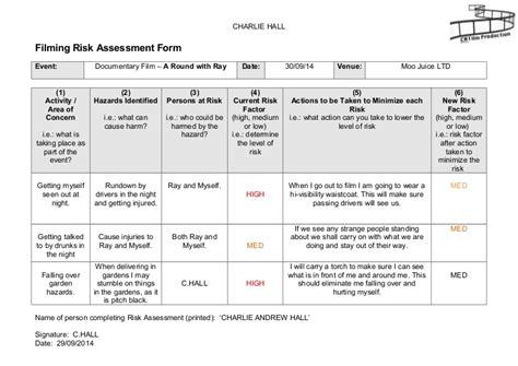 manufacturing risk assessment template filming risk assessment form