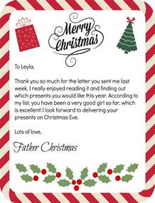 Charity Letter From Father Christmas 24 days to christmas quot countdown father christmas reply letter