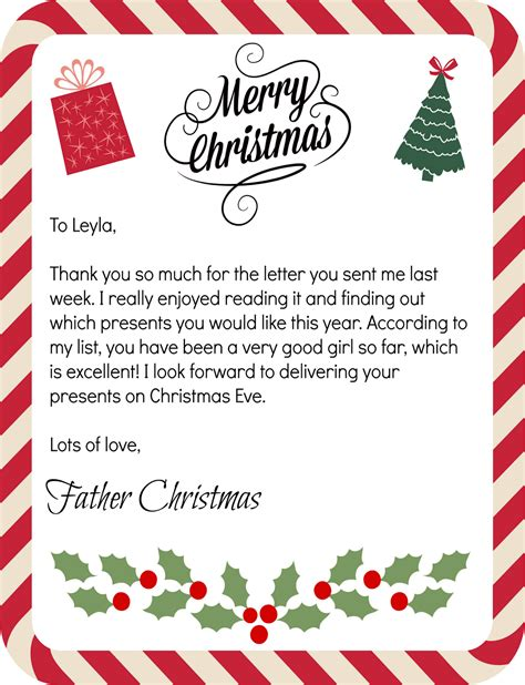 letters from father christmas mammy made december 2013