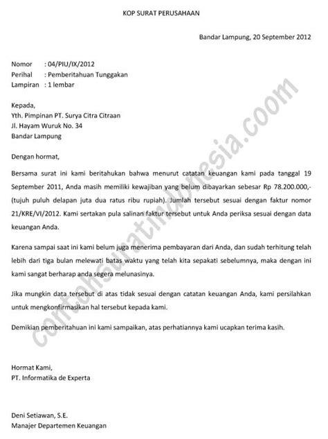 Surat Pemberitahuan - Contoh Surat Indonesia