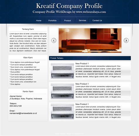 jasa desain company profile surabaya kreatif company profile desain warna biru web design
