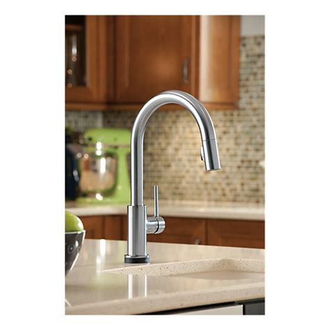 touch2o kitchen faucet 9159t ar dst single handle pull kitchen faucet with