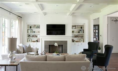 two sofa living room design living rooms with built in shelves tv room built ins