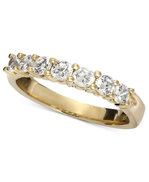 macy s seven band ring in 14k yellow or white gold