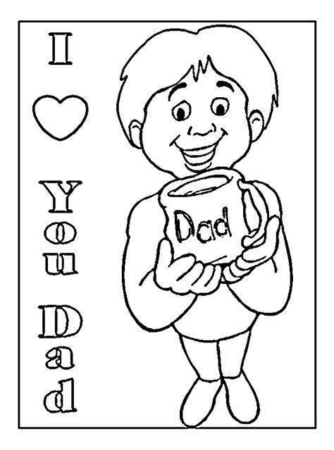 free i love you daddy coloring pages free coloring pages