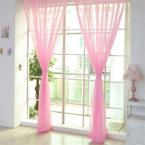 colorful sheer curtains colorful door window voile curtain drape panels sheer