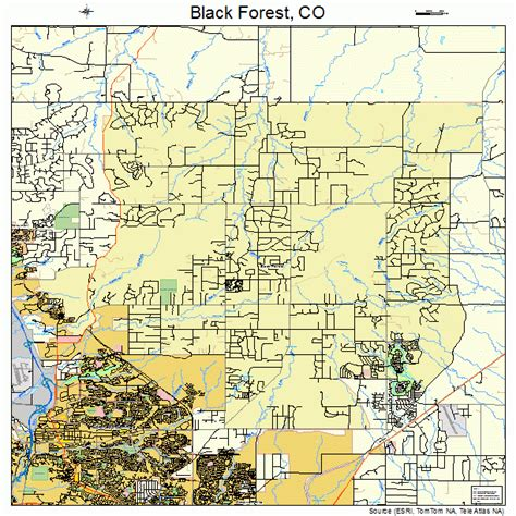 black forest colorado map 0806970