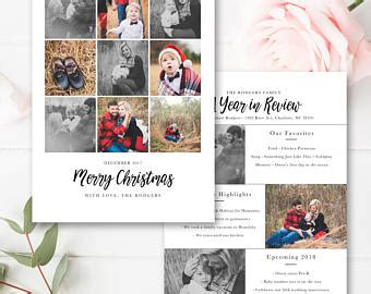 year in review card template year in review card template 5x7 photo card