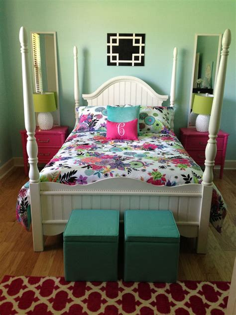 aqua girls bedroom aqua pink teen girls bedroom lainie room pinterest