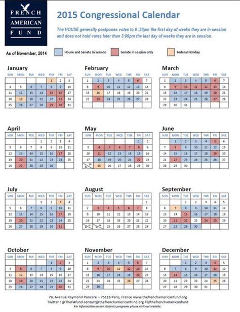Congressional Calendar 50 Best Images About Calendar Template On 2015