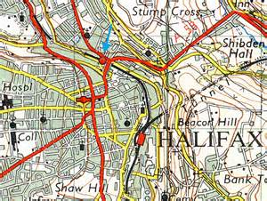 Halifax England Map by Disused Stations Halifax North Bridge Station