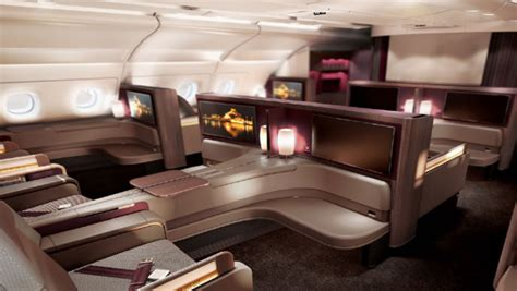 Airbus A380 1st Class Cabin by Images Qatar Airways Unveils Its New Airbus A380