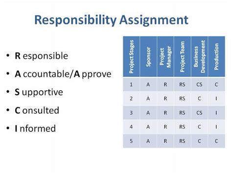 project responsibilities easy project management