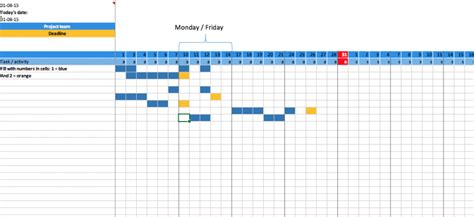 Excel Planner Template by Free Term Planner Gantt Chart For Excel