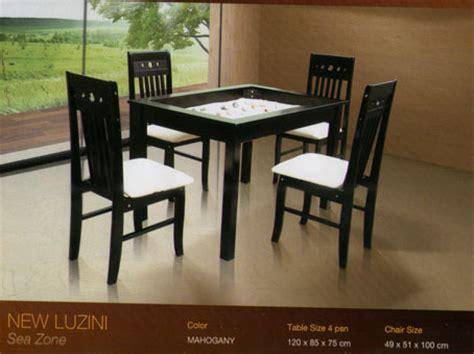 Kursi Makan Besi Minimalis mahkota baru furniture meja makan besi mewah dan kayu