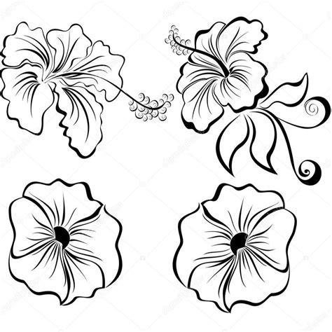 Immagini Di Disegni Di Fiori by Fiori In Bianco E Nero Stilizzati Illustrazione Di Stock
