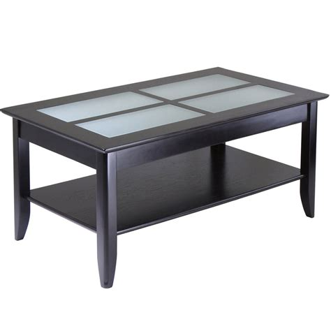 coffee table with shelf glass top coffee table with shelf espresso in coffee tables