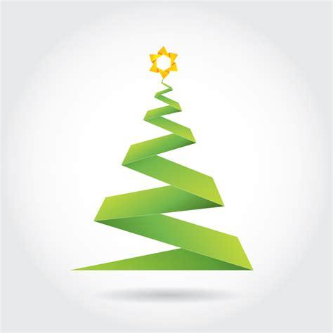 free origami christmas tree vector ian barnard