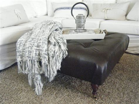 making a tufted ottoman 5 ways to get this look festive family room