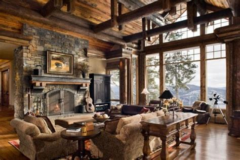 contemporary and classical rustic interior design