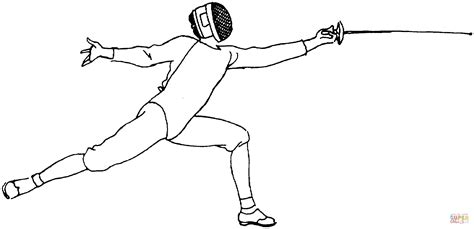 Fencing Colouring Pages sketch template