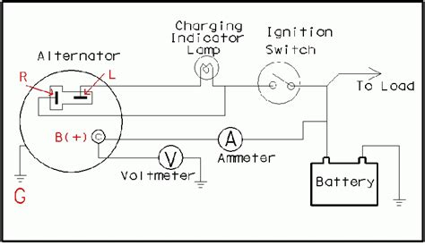 alternator wiring diagram chevy 3 wire alternator diagram