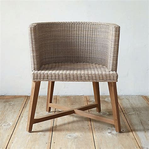 all weather wicker dining chair terrain