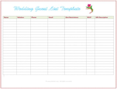 guest list template word 41 free guest list templates word excel pdf formats