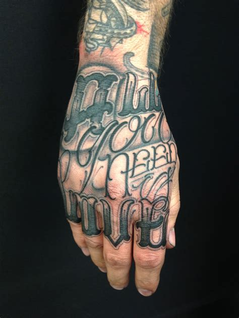 tattoo lettering on hands portfolio big meas