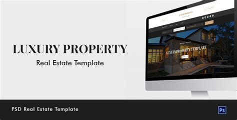 Luxury Property Real Estate Psd Template 247 Development Real Estate Development Website Templates