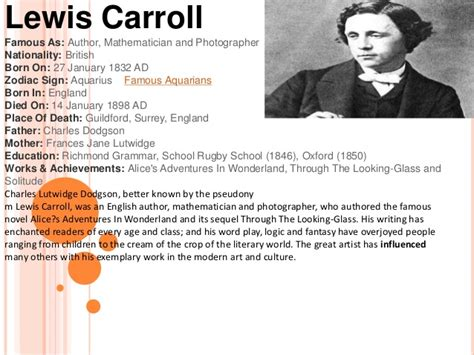 biography lewis carroll lewis carroll