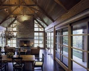 vaulted great room fireplace great rooms pinterest