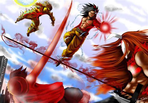 imagenes de goku naruto y luffy image goku vs naruto luffy ichigo jpg fc oc vs battles
