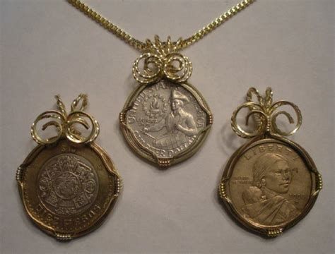 how to make coin jewelry wire wrapped coin pendant or key chain tutorial the