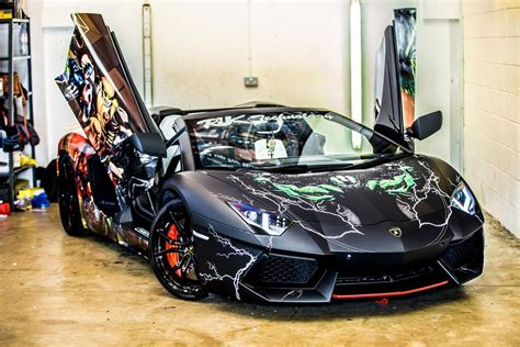 Gallery: Lamborghini Aventador Roadster with Superhero Wrap