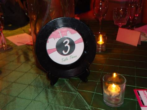 Vinyl Record Decorations by 1950s American Soda Shop On Diners Jukebox