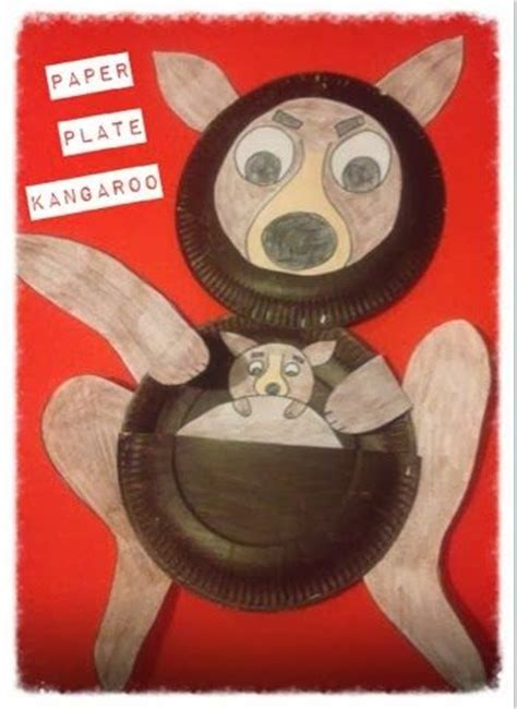 Kangaroo Paper Plate Craft - 17 best ideas about kangaroo craft on kangaroo