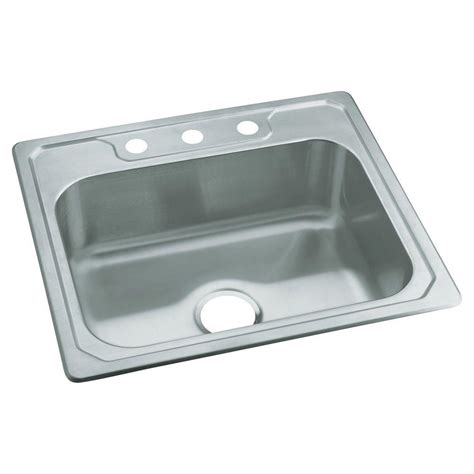 sterling kitchen sinks sterling middleton drop in stainless steel 25 in 3 hole