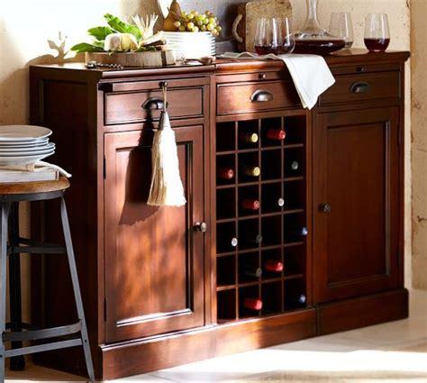 modular bar buffet with 2 cabinet bases 1 wine grid base