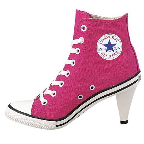 high heel l converse all high heel l sneakers stiletto shocking