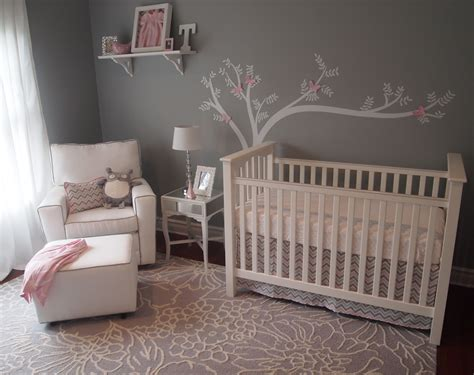 pink and grey toddler room girly gray pink chevron project nursery