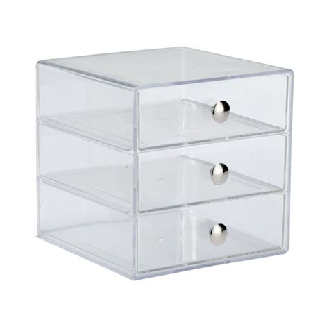 3 Drawer Container Jewelry Storage Countertop Vanity The Container Store
