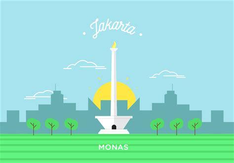 indonesia design vector monas vector download free vector art stock graphics