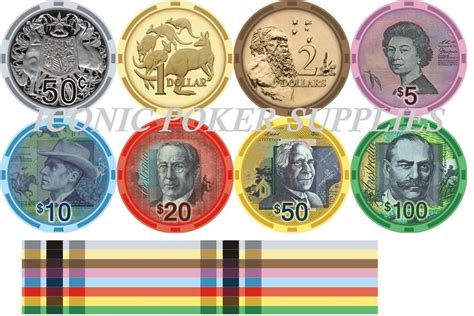 currency aud aud currency ceramic chips sle pack