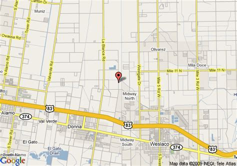 where is donna texas on the map map of palms inn and suites donna