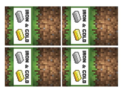 Label Kit Minecraft minecraft and simples on