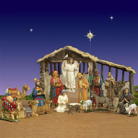 where to get life nativity set three real nativity set w stable 14 quot scale
