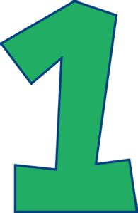 Green Mba Number 1 by Number One Green Clip At Clker Vector Clip