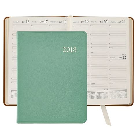 Calendar Diary 2018 2018 Desk Diary Brights Leather Agenda Planner