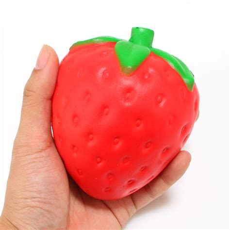 new arrived 12cm jumbo strawberry squishy rising sweet scented phone in mobile